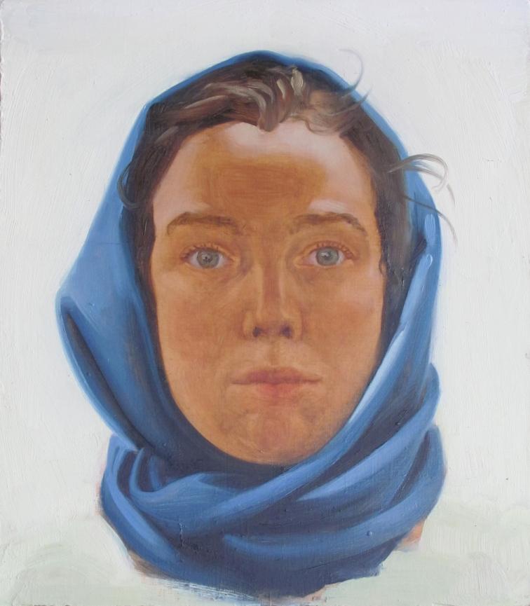 Marion Bataillard Sans titre, autoportrait Huile sur bois 26 x 22.7 cm 2013