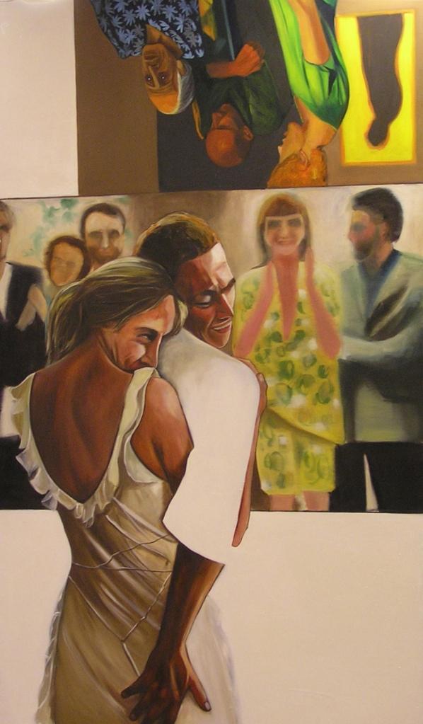 Nazanin Pouyandeh. Sans titre. Huile sur toile 185 x 114 cm 2006