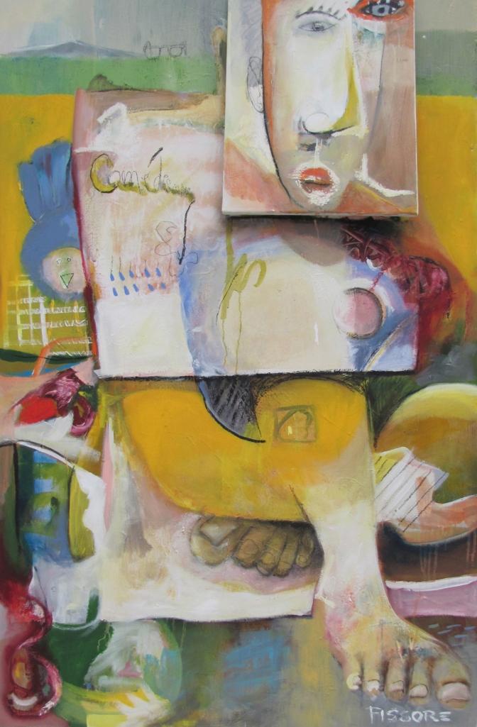 Philippe Fissore. La comédienne. Techniques mixtes; 160 x 100 cm 2013