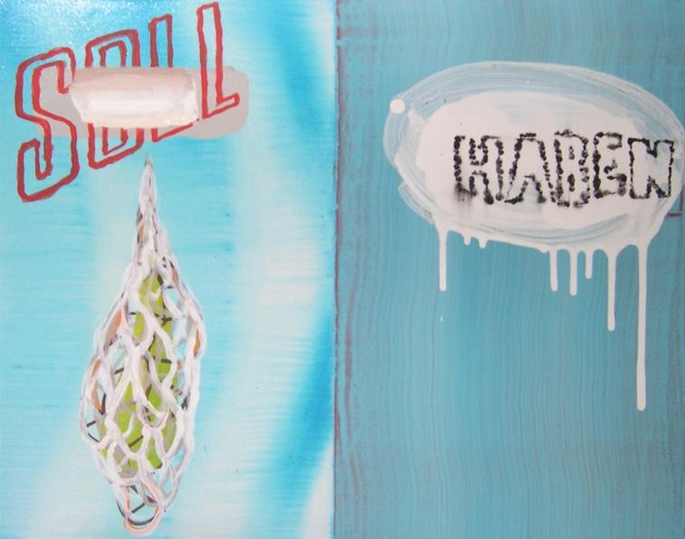 Rafael Grassi Hidalgo. Soll und haben. Acrylique sur toile; 40 x 50 cm; 2007