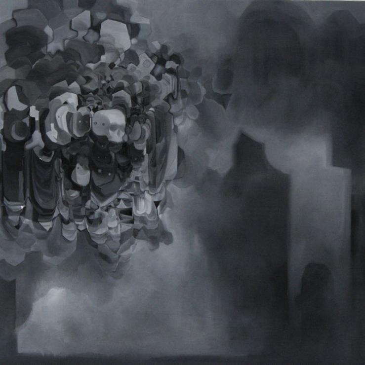 Jonathan Audin Sana titre huile sur toile 170 X 170 cm 2014