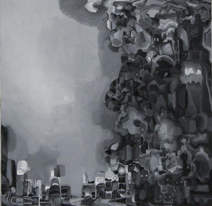 Jonathan Audin Sans titre Huile sur toile 60 X 60 cm 2014