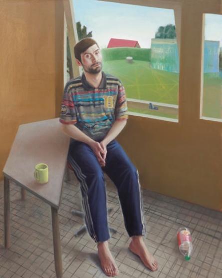 Portrait de Dmitrij dans l'atelier Huile sur toile 160 x 130 cm 2013