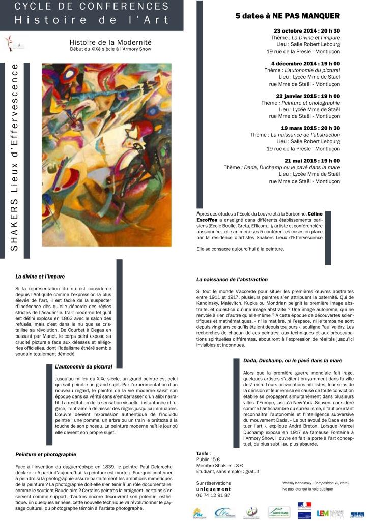 Plaquette.Conférences Histoire de l'Art