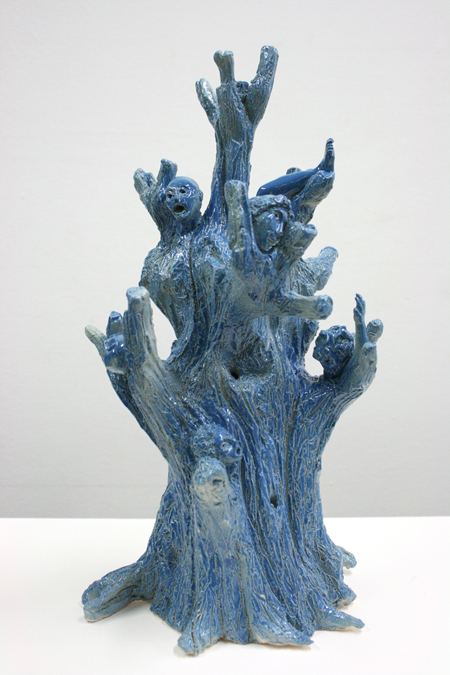 """Ariane Yadan """"Ce qui est caché"""" Faïence émaillée environ 40 x 20 cm. 2013"""